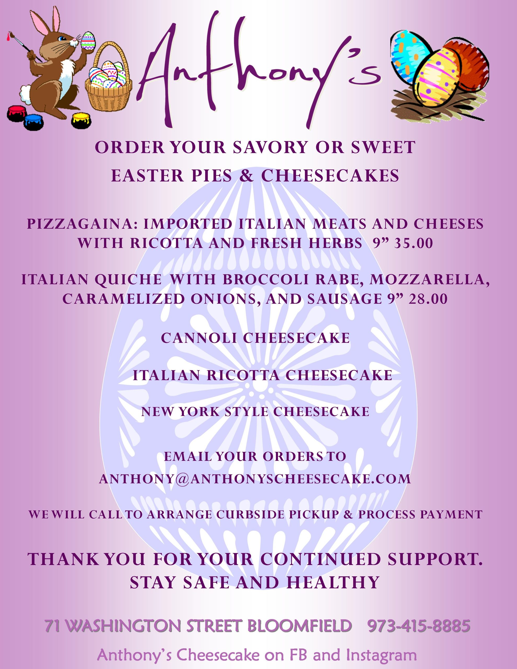 Easter Pies & Cheesecakes 2020